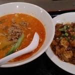 中華ダイニング 逸品源 - 坦々麺と半麻婆丼
