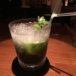Bar&Cafe 一夢庵 - ブラックモヒート 1300円