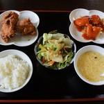 香港料理 明苑 - カラケ定食750円