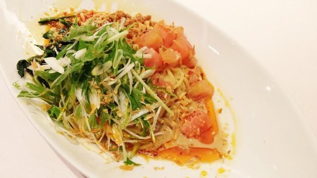 杏花 JR名古屋駅店 - 野菜いっぱいの汁なし担々麺