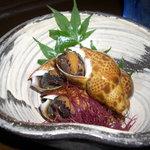 そてつ - 黒バイ貝の煮付け