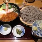 高田屋 - 北海丼&そばのセット 980円