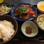 52272156 - ソーキ定食+冷汁