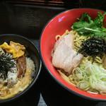 52278849 - 油そば&ミニカツ丼セット・930円