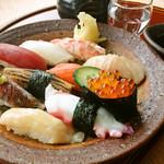 「季節のお寿司盛合せ」1人前