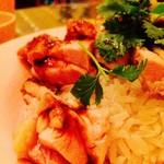 オカバンゴ - タイ米も良い具合に炊けてますよ!!