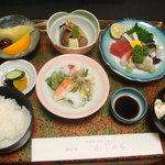 ふじわら - 刺身定食 1500円