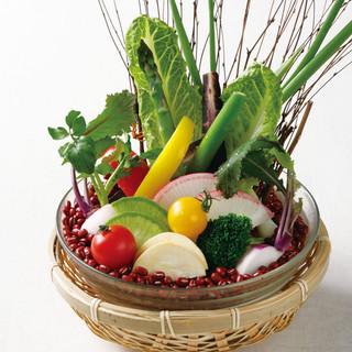 ◎彩り野菜でおもてなし◎鮮度抜群の旬野菜