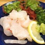 宇和島鯛めし 丸水 - 宇和島鯛めし 1500円 の鯛の刺身の細切り