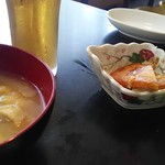 リミエール - 味噌汁と小鉢
