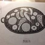 Cafe&BarbecueDiner パブリエ - テーブルクロスの代わり