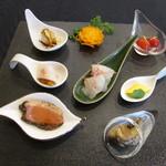 香港海鮮酒家 Lei U Mun - 今季の前菜の盛り合わせ7種