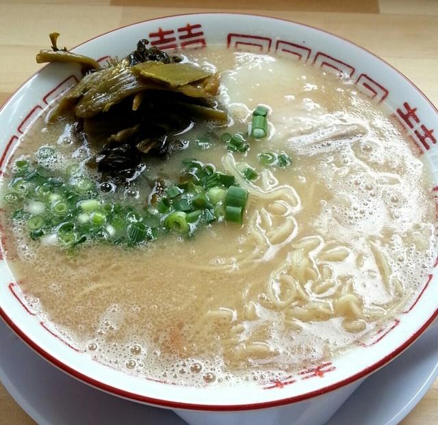 博多元気一番!! 柳橋本店 - たかなラーメン750円(甘口)