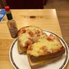 コメダ珈琲店 - 料理写真:たっぷり卵のピザトースト ¥650