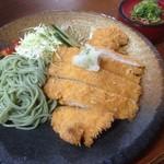若松 籔そば - 料理写真:冷やしとんかつザル^Q^