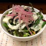 神戸牛29 - セットのサラダ。スープ(お椀入り)とライスが付く。