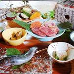 山の茶屋 - 炭火焼コース  3,200円~