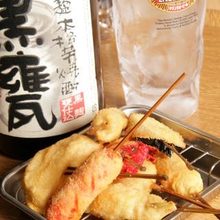 串カツ&どて焼きで厳選焼酎を楽しんじゃってください♪