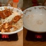 ランラン - BIG丼(とんかつ)大盛りの計量(1445g)