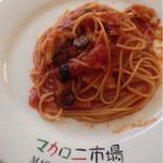 マカロニ市場 - ランチセットの トマトパスタ