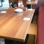 Ginzaraionodawaratozanisuto - テーブル席。