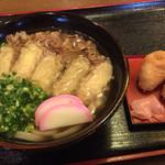 麺房花吹木 - 料理写真:花吹木セット=880円 肉ごぼう天うどん+いなり