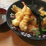 谷町 一味禅 - 海老穴子天丼(¥900)