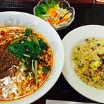 中国四川料理 あらき - サンラータン麺セット   ランチタイム1100円