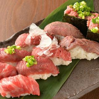 厳選素材の肉寿司