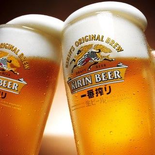 【単品飲み放題】生ビールはKIRIN一番搾り!!