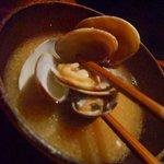 粋魚 むらばやし - 定食の味噌汁