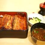 大和田 - 鰻重 特上 + 赤出汁