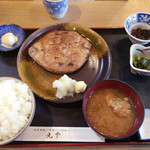 丸や - マグロ円盤焼き