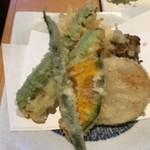 そば一仁 - 野菜の天ぷら