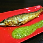 地下ワインカーヴ マナヴィーノ - 季節のお魚料理(鮎のコンフィ)