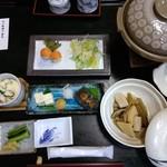 奈良田温泉 白根館 - 夕飯の全貌