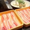 しゃぶ葉 - 料理写真:三元豚バラ食べ放題1190円ランチコース。