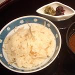日本料理 有馬 - 留椀 季節のご飯と赤だし、香の物