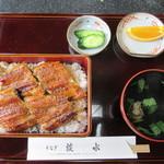 52341406 - 天然の口細青鰻のうなぎ重箱 上(4,428円)