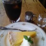 カフェ アンジェリーナ - レモンタルト&アイスコーヒー