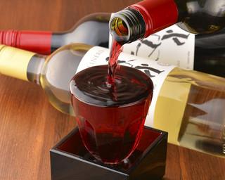 炭火焼きバル フォンターナ - こぼれグラスワイン