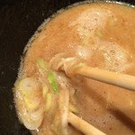 麺喰屋 Senmi - 2016 Senmi  ★つけ麵 胡麻(大盛無料 味玉クーポン 950円)★つけだれの具