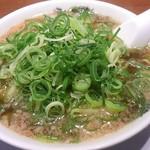 来来亭  - ラーメン  麺かため、一味唐辛子抜き、ネギ多め