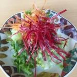 ビストロ菜フェスタ - ランチセットのサラダ