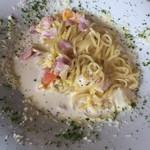 ビストロ菜フェスタ - 真狩産リーキと自家菜園のクリームパスタ