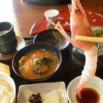四季のテーブル - 甘エビちゃん、大きいから嬉しい(≧▽≦)/