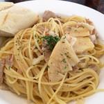 コンシールカフェ・サクラガオカ - 豚バラ肉とたけのこのペペロンチーノ(980円)