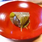 うつわ料理 さ乃 - 胡桃入り黒葛餅