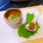 うつわ料理 さ乃 - 蜆の飯蒸し、土筆のベーコン炒め