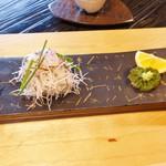 うつわ料理 さ乃 - 鯛の潮吹き昆布和え